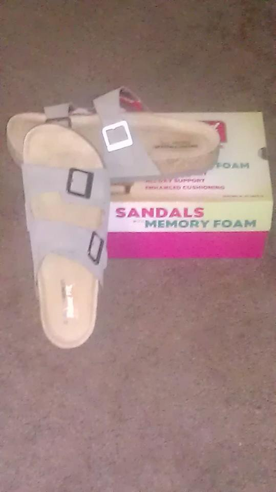 My review of Skechers memory foam sandles.