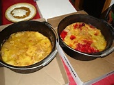 Dutch oven dump cake healthy organic recipe. Helping those with ms eat healthy.