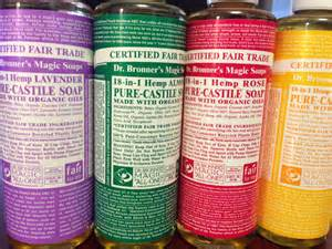 Using natural castilesoap…